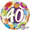 """18"""" 40 Birthday Big Dots & Glitz   Mylar Foil Balloon"""