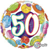 "18"" 50 Birthday Big Dots & Glitz   Mylar Foil Balloon"