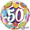 """18"""" 50 Birthday Big Dots & Glitz   Mylar Foil Balloon"""