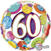 "18"" 60 Birthday Big Dots & Glitz   Mylar Foil Balloon"