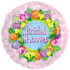 "18"" Bridal Shower Floral   Mylar Foil Balloon"