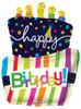 "36"" Birthday Funky Cake Shape Mylar Foil Balloon"