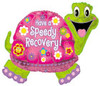"31"" Have A Speed Recovery Turtle Mylar Foil Balloon"