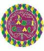 "18"" Mardi Gras Beads Mylar Foil Balloon"