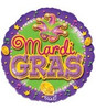 "18"" Mardi Gras Party Mylar Foil Balloon"