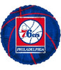 "18"" NBA Philadelphia 76ers Basketball Mylar Foil Balloon"