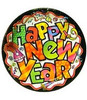 "18"" New Year Pizzaz Mylar Foil Balloon"