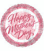"18"" Happy Mother's Day Pink Roses Mylar Foil Balloon"