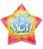 "18"" Awesome Mom Mother's Day Mylar Foil Balloon"