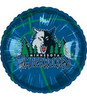 "18"" NBA Minnisota Timberwolves Basketball Mylar Foil Balloon."