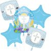 Communion Blessings Blue  Bouquet Balloon Combo Pack
