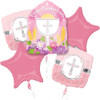 Communion Blessings Pink  Bouquet Balloon Combo Pack