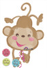 "40"" Baby Monkey Fisher-Price Shape Mylar Foil Balloon"