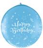 "36"" Birthday Shining Star Robin's Egg Blue (Neck-up) Latex Balloons"