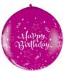 "36"" Birthday Shining Star Wild Berry (Neck-up) Latex Balloons"