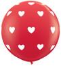"36"" Big Hearts Latex Balloons"