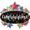 "31"" Congratulations Shape Mylar Foil Balloon"