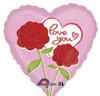 """18"""" Love Sweet Love   Mylar Foil Balloon"""