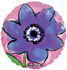 "18"" Painted Purple Flower   Mylar Foil Balloon"