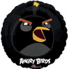 "18"" Angry Birds Black Bird   Mylar Foil Balloon"