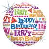 "18"" Gift Wrap Birthday   Mylar Foil Balloon"