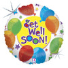 "18"" Get Well  & Stars   Mylar Foil Balloon"