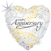 "18"" Anniversary Filligree   Mylar Foil Balloon"