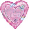 """18"""" Princess Birthday   Mylar Foil Balloon"""