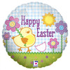 "18"" Easter Button   Mylar Foil Balloon"