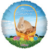 "18"" Easter Bunny Basket   Mylar Foil Balloon"