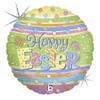 "18"" Easter Dots   Mylar Foil Balloon"