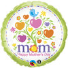 "18"" Mother's Day Blooming Hearts   Mylar Foil Balloon"