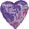 "18"" Mother's Day Damask   Mylar Foil Balloon"