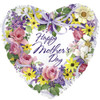 "18"" Mother's Day Spring Wreath   Mylar Foil Balloon"