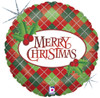"18"" Argyle Christmas   Mylar Foil Balloon"