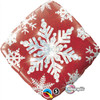 "18"" Snowflake Sparkles Red   Mylar Foil Balloon"