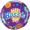 "18"" Boss's Day Color Circles Mylar Foil Balloon"