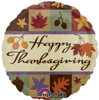 "18"" Thanksgiving Classic   Mylar Foil Balloon"