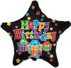 """18"""" Birthday Big Dots Star   Mylar Foil Balloon"""