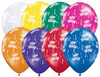 "11"" Birthday-A-Round Jewel Assortment Latex Balloons"