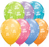 "11"" Birthday-A-Round Contemporary Assortment Latex Balloons"