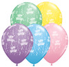 "11"" Birthday-A-Round Pastel Assortment Latex Balloons"