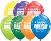 "11"" Birthday Loops & Stars Carnival Assortment Latex Balloons"