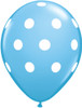 "11"" Big Polka Dots Standard Pale Blue Latex Balloons"