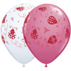 "11"" Ladybugs Assortment Latex Balloons"