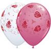 "11"" Ladybugs Assortment Latex Balloons"
