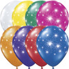 "11"" Fireworks-A-Round Jewel Assortment Latex Balloons"