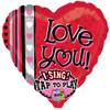 "29"" Love You Dots Singing  Mylar Foil Balloon"