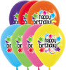 "11"" Starburst Birthday Assortment Latex Balloons"