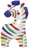 "35"" Zebra Colorful Shape Mylar Foil Balloon"